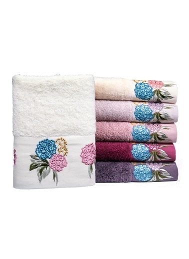 Minteks Pastoral Gardenya 50x90 6 lı 6 Renk Havlu Seti Renkli